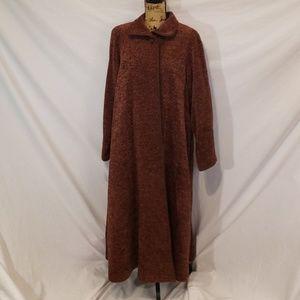 Vintage Lynn Yarrington Chenille Swing Coat Large